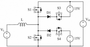 Highly Efficient High-Voltage MOSFET Converter with Bidirectional Power Flow Legs